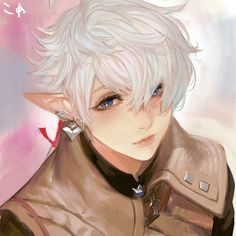 Anime Elf, Final Fantasy, Fantasy Artwork, Cute Anime Guys, Mythical Creatures, Anime People, Male Fairy, Final Fantasy 14, Final Fantasy Artwork