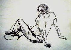 Dibujo del natural. Diferentes poses de figura. Nerea Ansa. 2012