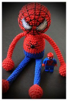 Amigurumi spiderman crochet pattern