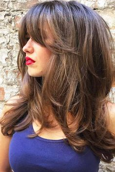 30 Long Haircuts & Hairstyles For Women To Look Gorgeous - Hair Styles 2019 Bride Hairstyles, Hairstyles With Bangs, Cool Hairstyles, Layered Hairstyles, Formal Hairstyles, Long Hairstyles With Layers, Layered Haircuts For Women, Hairstyles Videos, Everyday Hairstyles
