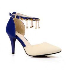 $32.42 Elegant Color Matching and Fringe Design Pumps For Women