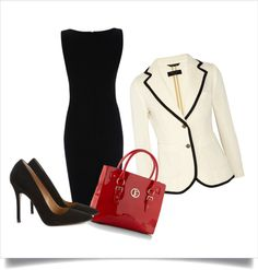 """Professional Attire #1"" by laprez on Polyvore. Too bad I'll be in  a uniform...maybe if I have to go to court?"