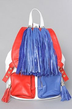The Rizzler Bag in Red, White, and Blue by Jeffrey Campbell Handbags   Karmaloop.com - Global Concrete Culture - StyleSays