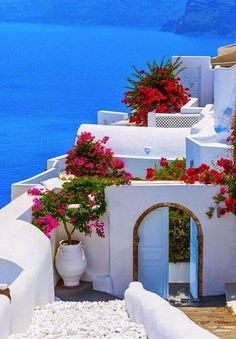 Santorini,Oia, Entrance to Canaves Oia Hotel, Greece  #Travel #Exotic #ShermanFinancialGroup