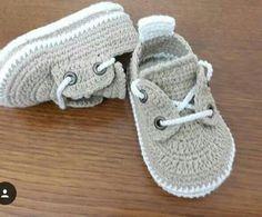 converse de bebe en crochet