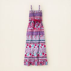 girl - dresses & rompers - belted print maxi dress | Children's Clothing | Kids Clothes | The Children's Place $20