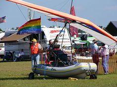 Flying inflatable boat polaris motor microlight
