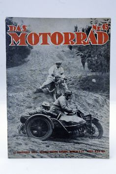 Zeitschrift ¨DAS MOTORRAD¨ Jahrgang 1933 / 32x / Oldtimer / Motorcycle / D in…