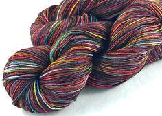 Kinfolk Yarn hand dyed sock yarn 100g  437 yd: Born to Be Wild