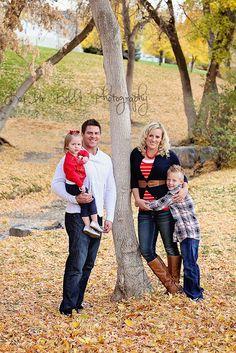 family photography, family photos, family of 4 pose, fall family photography, leaves, autumn, Utah photography, lou la belle photography