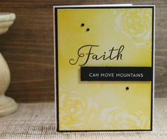 Handcrafted Faith Can Move Mountains Encouragement Card by PureGraceInspiration on Etsy