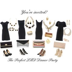 """The Perfect LBD Dinner Party"" by betty-h on Polyvore"