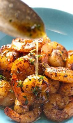 Spicy Shrimp with Orange Brown Butter Sauce _ Get a load of this —> here's this barely spicy shrimp, drenched in that finger licking good orange brown butter sauce! That, my friends, was otherworldly! #shrimp #seafood