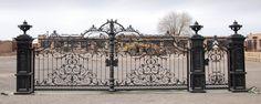 Victorian Style Cast Iron 22ft Driveway Gates GT54 | eBay