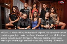 Reality TV Show Conspiracy theory   this makes sense! Scary!