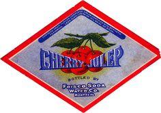 Label liqueur Cherry Julep Frisco Soda Water Montreal