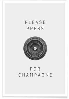 Please Press als Premium Poster von typealive | JUNIQE