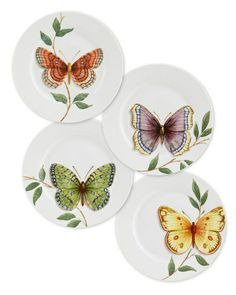 Butterfly plates pinned with #Bazaart - www.bazaart.me
