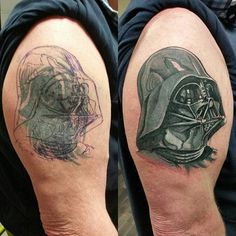 #WIP darth vader tattoo #darthvadertattoo done today. #TheForce #TheDarkside #Sith #Sithlord #starwars #Jedi #backpiecetattoo #BlackAndGrey #liketattoos #illustration #drawing #ink #design #tattooing #Art #likedesign #sketching #Tattooflash #coveruptattoo