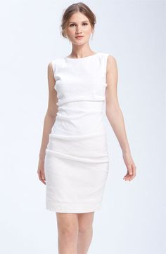 Nicole Miller Stretch Linen Sheath Dress | Nordstrom