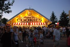 Minnesota State Fair + Sweet Martha's Cookies -- warm and delicious! :)