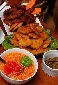 Haitian picklise and plantains
