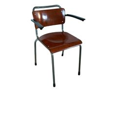 Titel: Gispen Model 206 TH Delft Design: W.H. GISPEN Manufacturer: Gispen Design year: 1937 Color: teak and grey Condition: In good vintage condition  Shipping to The Netherlands Shipping Costs within Europe Shipping Costs Worldwide…