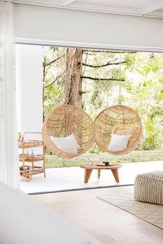 Home Interior Design, Interior And Exterior, Kitchen Interior, Hanging Furniture, Hanging Chairs, Furniture Decor, Outdoor Furniture, Style Salon, Three Birds Renovations