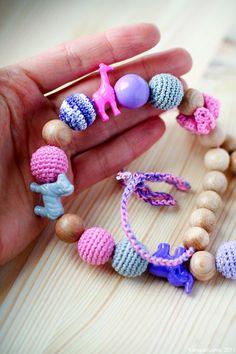 Teething necklace Nursing necklace Beadery Animals by kangarusha