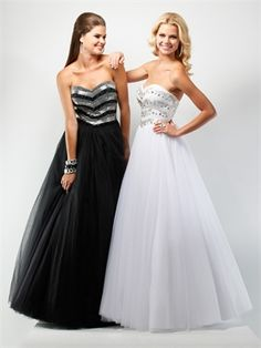 Ball Gown Strapless jewels-encrusted bodice beaded layered tulle prom dress PD10315