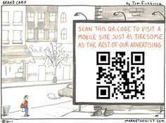 How not to do QR Codes.