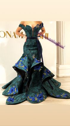 latest ankara long gown styles 25 Iresistible styles of Ankara Long Gown f. from Diyanu - Ankara Dresses, Shirts & African Prom Dresses, African Wedding Dress, African Fashion Dresses, African Dress, Elegant Dresses, Beautiful Dresses, Nice Dresses, Ankara Long Gown Styles, African Print Fashion