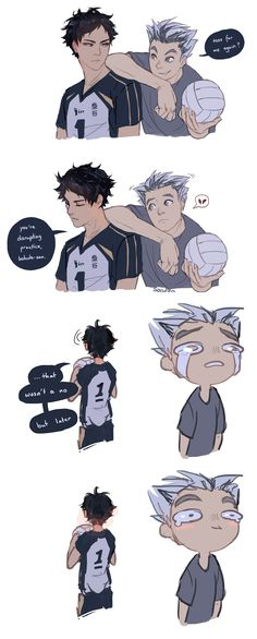 Bokuto X Akaashi<<<<omg u can see Akaashi's blush even from behind in the last panel xD