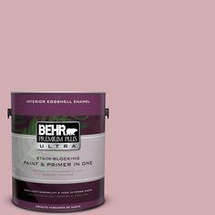 BEHR Premium Plus Ultra 1-gal. #S130-3 Ballet Rose Eggshell Enamel Interior Paint