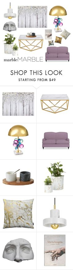 """""""Classic Elegance: Marble Home"""" by flowersofthefield ❤ liked on Polyvore featuring interior, interiors, interior design, home, home decor, interior decorating, Yosemite Home Décor, Jonathan Adler, Williams-Sonoma and Tom Dixon"""