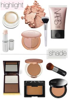 Guide on Makeup Contouring and highlighting. What Is Contour Makeup, Contouring And Highlighting, Makeup Contouring, Strobing, Contouring Guide, Contouring Products, Makeup Eyeshadow, Eyeshadow Palette, Kiss Makeup