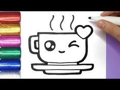 Cute Food Drawings, Cute Kawaii Drawings, Doodle Drawings, Doodle Art, Draw Ice Cream, Chibi Disney, Crayola, Drawing For Beginners, Fun Crafts