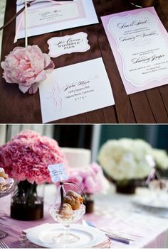 love the bouquets from this wedding and the burlap banners