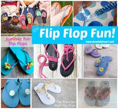 Huge list of DIY flip flop tutorials!  Just in time for Old Navy Flip Flop Sale!