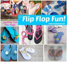 Huge list of DIY flip flop tutorials!  Just in time for Old Navy Flip Flop Sale!