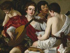 Michelangelo Merisi da Caravaggio, 'Los músicos (The Musicians) ', 1596-1597