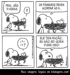 Quem disse? - Snoopy quadrinhos em português - Pesquisa Google
