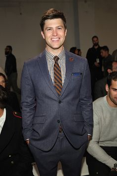 cojopost:    Colin Jost attends the Perry Ellis fashion show...