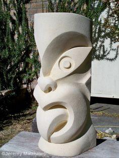 Oamaru stone Wheku Plaster Sculpture, Sculpture Head, Sand Sculptures, Abstract Sculpture, Foam Carving, Stone Carving, Totems, Tiki Art, Nz Art