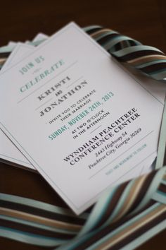 Custom calligraphy wedding invitations done by GDEcalligraphy.