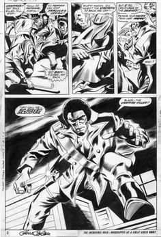 seanhowe:    Blade, from Tomb of Dracula #10. Art by Gene Colan and Jack Abel; Words by Marv Wolfman.