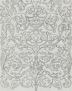 Wallpaper design produced by T. Clarke in 1849.