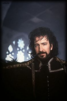 """(Which was the only good thing about this movie!) """"I'm going to carve his heart out with spoon. It is dull. It will hurt more."""" Alan Rickman as The Sheriff of Nottingham in """"Robin Hood: Prince of Thieves"""" Severus Rogue, Severus Snape, I Look To You, How To Look Better, Nottingham, Alan Rickman Robin Hood, Rogue Harry Potter, Moustache, I Movie"""
