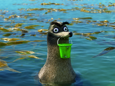 Gerald From Finding Dory Every time I see Gerald I think of Jerry (Gary) from parks and recreation. They're just treated in similar ways by their peers