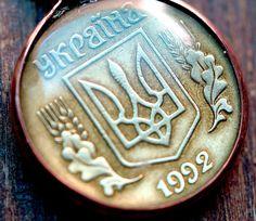 Ukrainian Coin Pendant. $19.00, via Etsy.